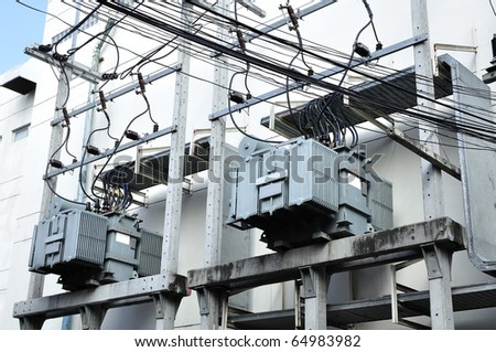 Transformer electric - stock photo