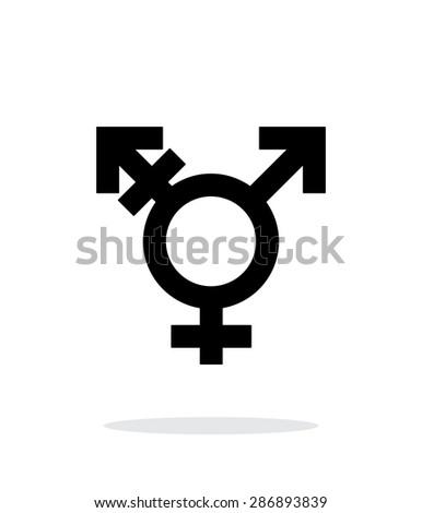 Transgender icon on white background. - stock photo