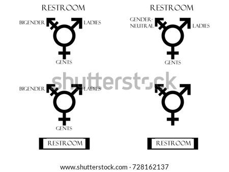 Transgender Male Set Symbols Isolated On Stock Illustration
