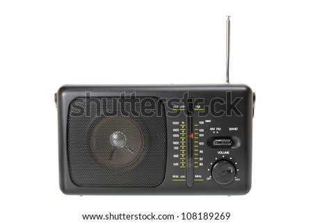 Transistor Radio on White Background