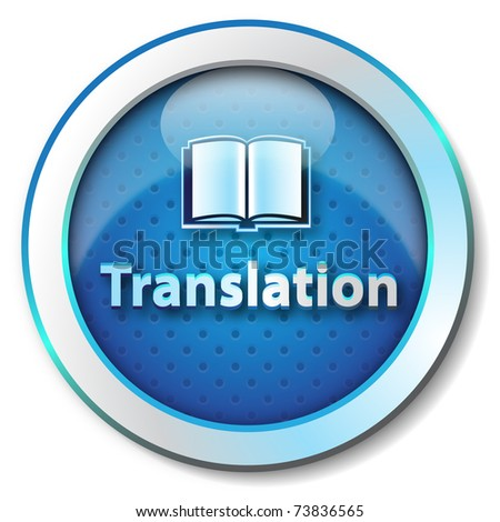 Translation icon - stock photo