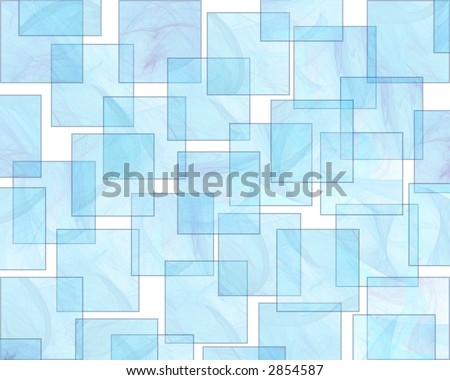 Translucent Aqua Squares form a Retro Styled Background - stock photo