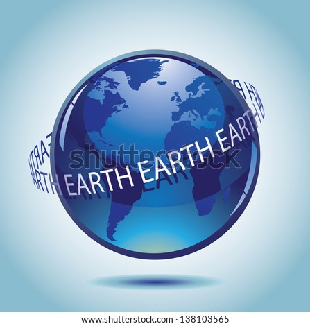 Translucent Earth. jpg.  - stock photo