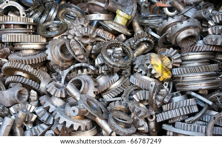 Transmission gear machanical parts. - stock photo
