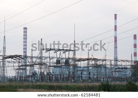 Transmission power line and power plant