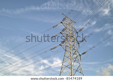 Transmission tower - stock photo