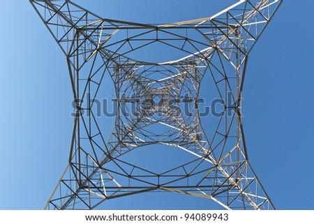 Transmission tower - stock photo