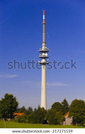 transmitter mast for television and radio in Bavaria, Germany