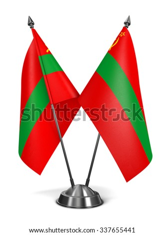 Transnistria - Miniature Flags Isolated on White Background. - stock photo