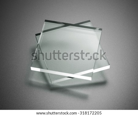Transparency plate abstract - stock photo