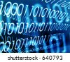 Transparent Binary Code, retro effect. - stock photo
