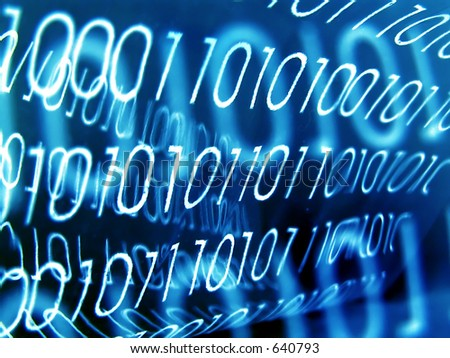 Transparent Binary Code, retro effect. - stock photo