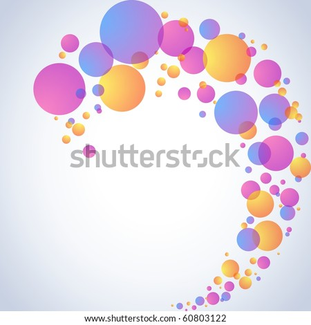 Transparent bubble swirl (jpg); Eps10 version also available - stock photo
