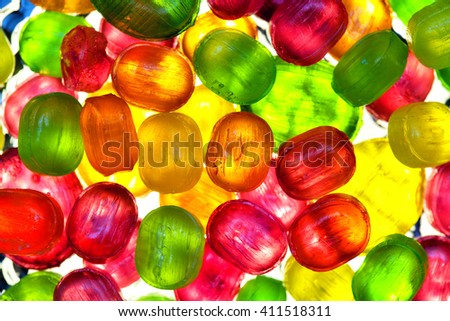 transparent candy. background of colorful candies - stock photo