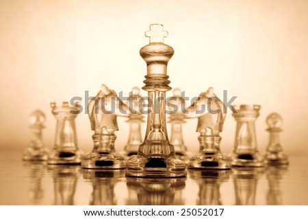 Transparent chess - stock photo