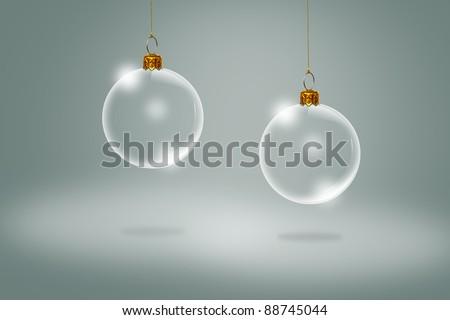 Transparent Christmas ball - stock photo