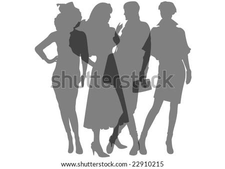 transparent female mannequins - stock photo