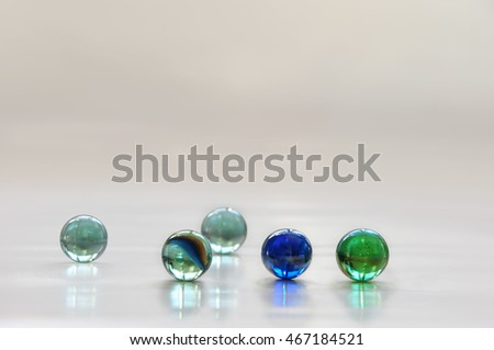 transparent glass balls