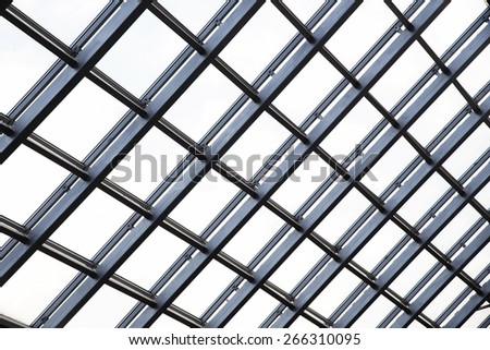 Transparent glass ceiling - stock photo