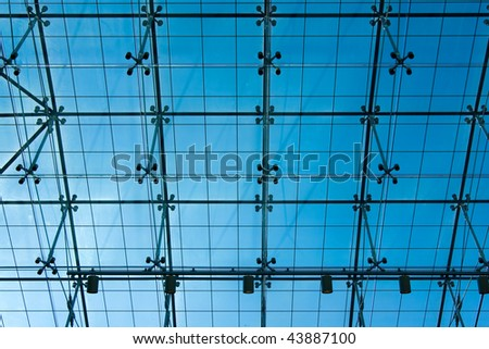 Transparent glass ceiling