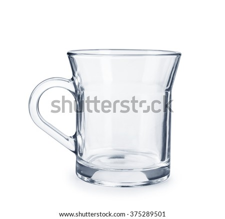 transparent glass Cup isolated on white background