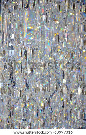 Transparent glass jewelry pattern - stock photo