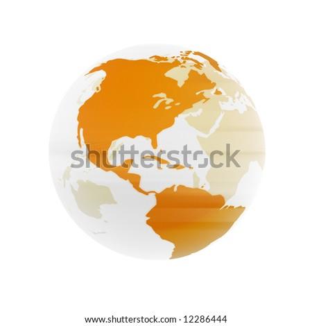 Transparent Globe - stock photo