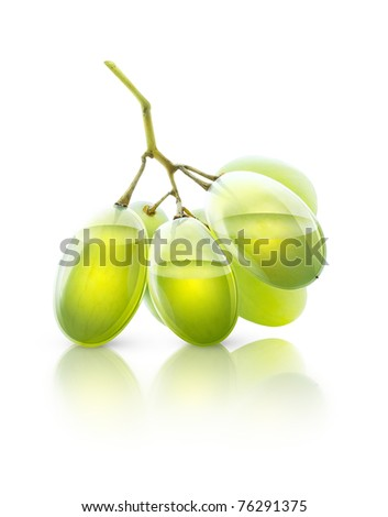 Transparent grapes, concept image for grape juice or wine - stock photo