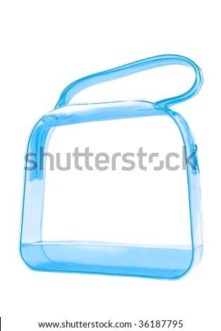 transparent handbag - stock photo