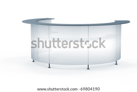 Transparent Reception. 3d Render On White Background