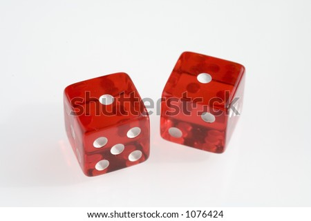 Transparent Red Casino Dice