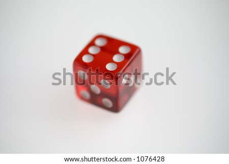 Transparent Red Casino Die