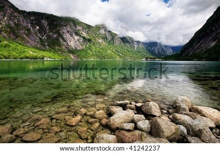 Transparent river - stock photo