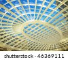 Transparent roof of shopping mall - stock photo