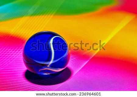 Transparent round bubble with abstract bright background  - stock photo
