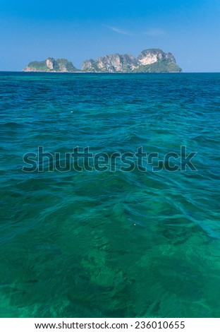 Transparent Waters Exotic Getaway  - stock photo