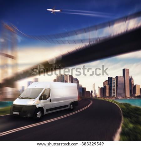 Transport city - stock photo