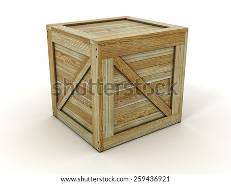 Transport Crate - Wooden Container Box. 3D Illustration