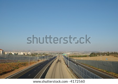 Transport highway and railway track