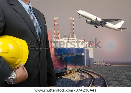 transport logistic concept - stock photo