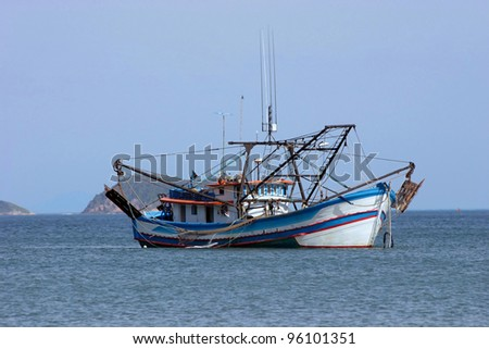 Transport theme: Industrial fishing boat