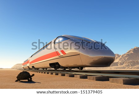 Transport to be by the railway  - stock photo