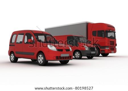 transport vehicles - stock photo