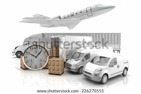 Transportation - Air transport - 3d Render - stock photo