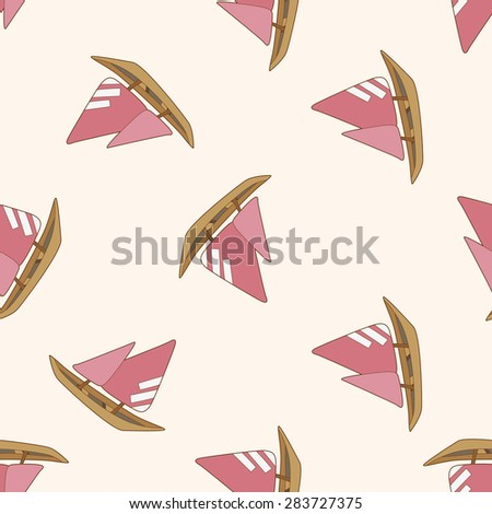Transportation boat , cartoon seamless pattern background