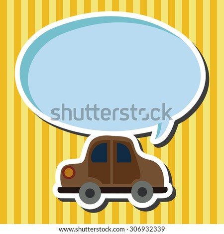 Transportation car icon cartoon speech icon - stock photo