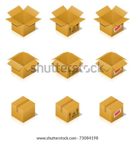 Transportation Cardboard - stock photo