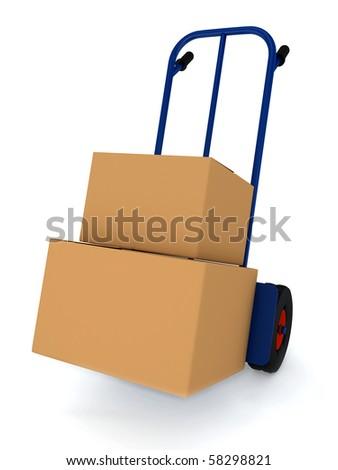 Transportation. 3d render - stock photo