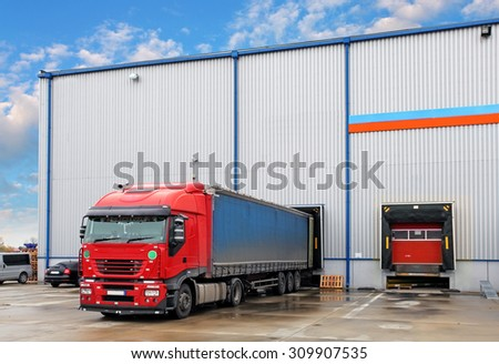 Transportation freight industry - stock photo