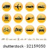 Transportation icons buttons set. Raster version of vector image 27493942 - stock photo